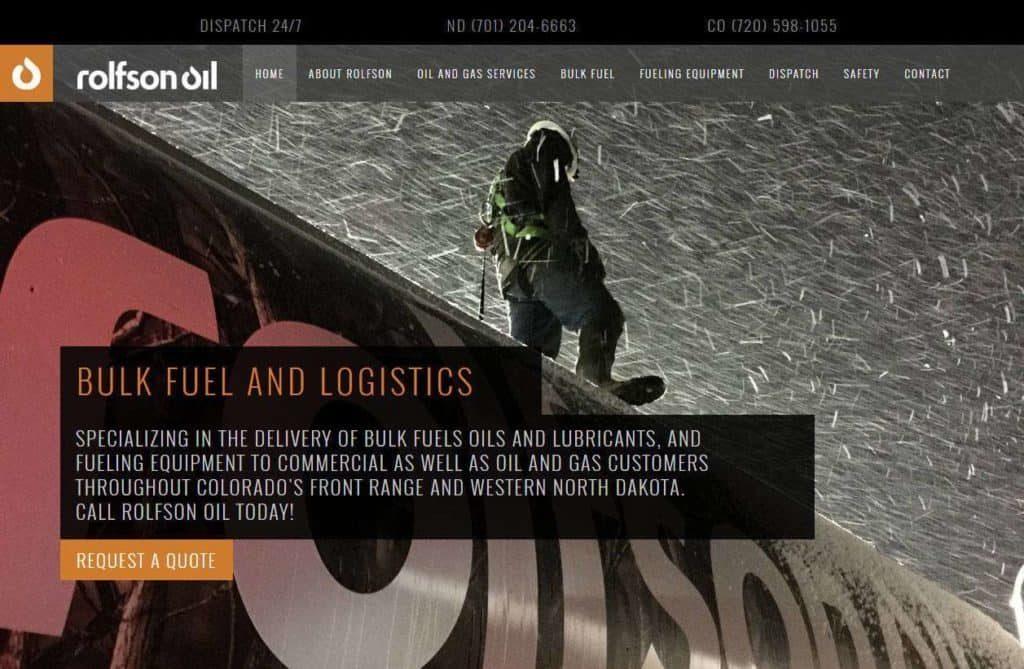 logistics company website design