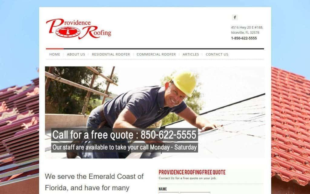 roofing company website designs mobile responsive