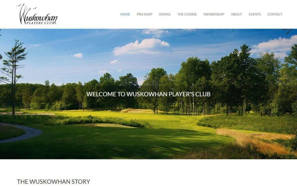 golf course website designers