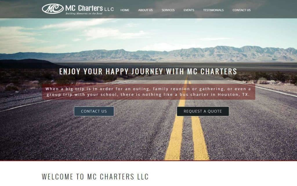 bus charters website design mobile friendly