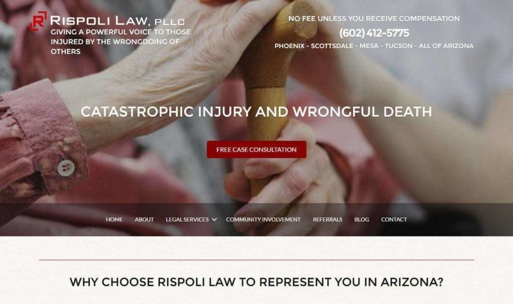 injury attorney website build