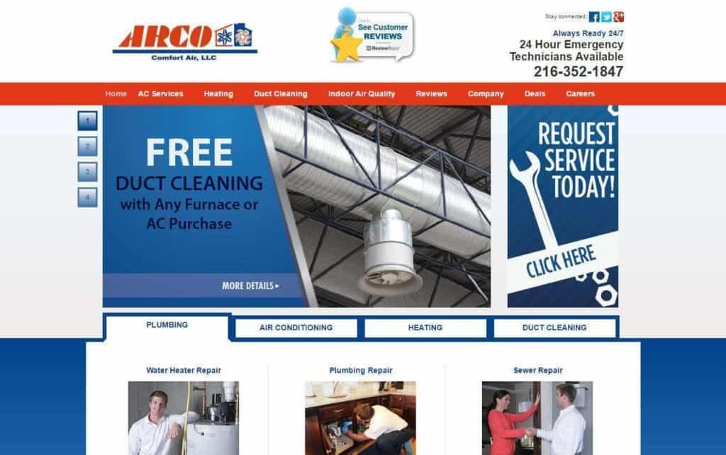 HVAC website designs