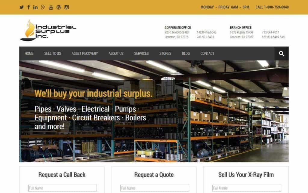 industrial website design mobile responsive