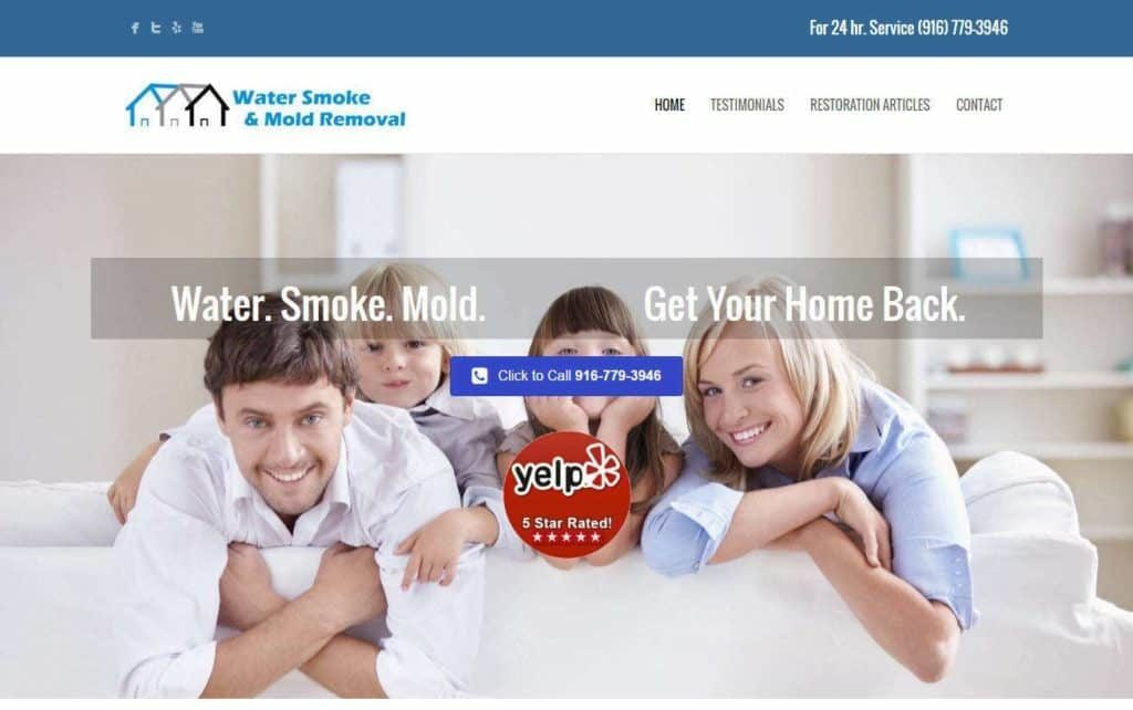 water damage repair website designs