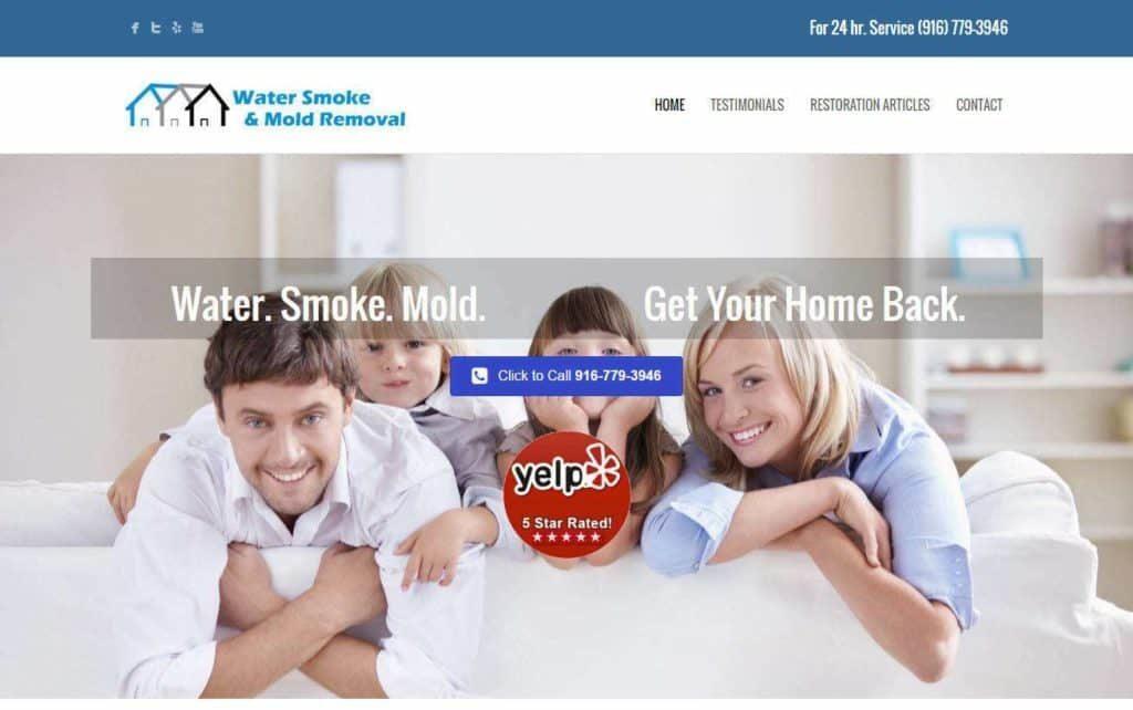 water damage repair website designs