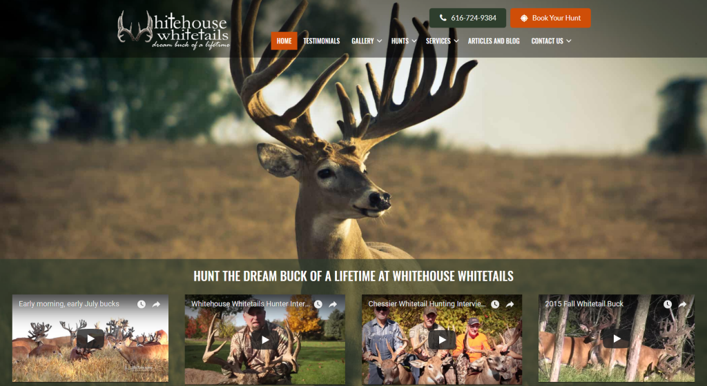 deer ranch website design